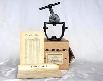 Observoscope - Vintage Star Finder - Millar Astronomy Instrument -Rare Scientific Instrument -Night Sky Star Finder - Vintage Astronomy Gift
