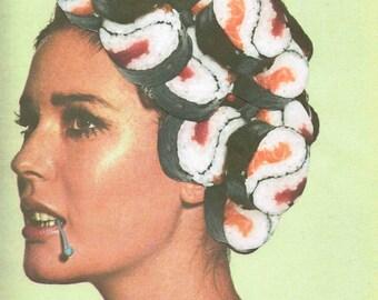 Sushi Collage Print