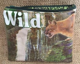 Cougar zipper pouch