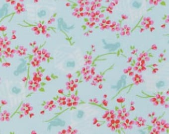 Sugar Hill - Blue Birdy - by Tanya Whelan for Freespirit Fabrics