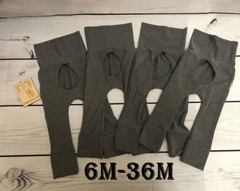 Pants porthole 6M - 36M medium gray