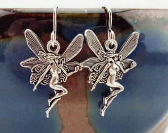 Fairy earrings - Fairy jewelry - Nymph earrings - Nymph jewelry - Faerie earrings - Faerie jewelry - pixie earrings - Silver fairy earrings