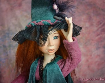 Witch doll fantasy art dolls witch decor handmade dolls porcelain doll fantasy doll witch figurine art doll witch sculpture LIMITED EDITION