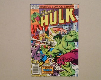 Hulk Vs Thor; Incredible Hulk #255; Hulk Vs Thor Classic Battle; Thor Ragnarok Movie; Very Fine! Key Comic!