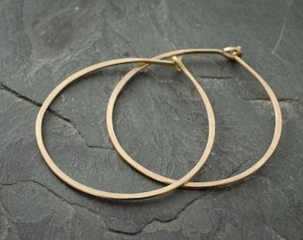 Gypsy Earrings. Gold Hoop Earrings. Medium Size Hoops. Hoop Earring. Boho Jewelry. Gold Earrings.