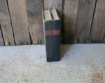 Set of Two Vintage Mark Twain Books Tom Sawyer & The Adventures of Huckleberry Finn - Classic Novel - Classic Literature