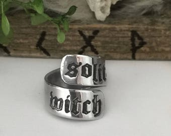 Witch Ring - Solitary Witch - Wiccan Ring - Pagan Ring - Witchcraft Ring - Wiccan Jewelry - Wicca - Pagan Jewelry - Ritual