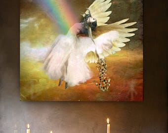 Angel of  Prosperity art print spirit magic altar art