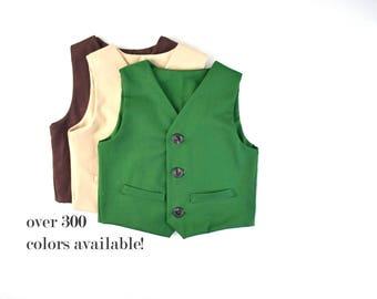 Boys Suit Vest, green vest, Baby Suit Vest, Toddler Suit Vest, Ring Bearer Outfit, Formal Vest, Boys Wedding Outfit, forest vest, olive
