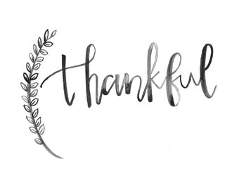 Thankful Watercolor Printable