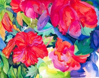 Flowers Greetings Card