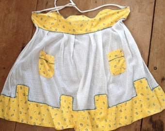 Yellow Half Apron