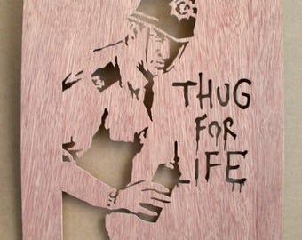 Banksy Thug Cop Stencil