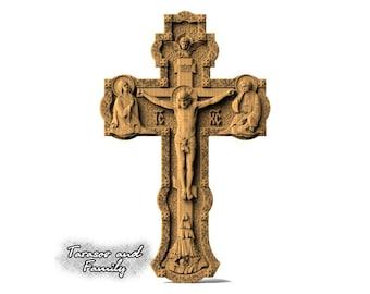 Decor cross art wall hanging orthodox russian christian catholic decorative wood decor Jesus wood wall cross religious art gifts for him her