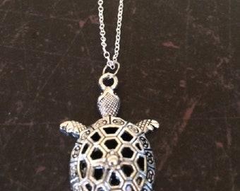 Turtle Necklace - Turtle Jewelry - Turtle Pendant - Silver Turtle Necklace - Tortoise Necklace - Tortoise Jewelry - Silver Necklace - Gift