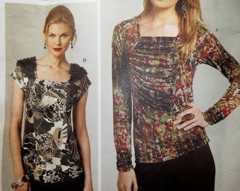 "Vogue 1275 Sewing Pattern,Todays Fit Sandra Betzina Knit Tops, Sizes OSZ Bust 32"" - 55"""