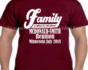 special order *pick up only*McDonald-Smith family reunion shirts only