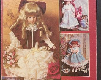 "LAST CHANCE SALE - Dolls of Distinction - Patterns for 10"" through 16"" Porcelain Look Dolls"