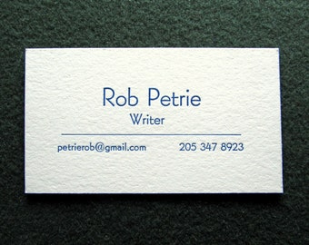 Great Price! - 50 Letterpress Business Cards, Minimalist Design. Why Pay More?
