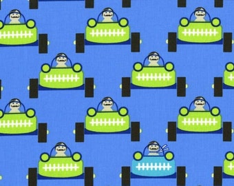 SALE 30% OFF Gentlemen Start Your Engines Premium Cotton Fabric from Michael Miller Fabrics