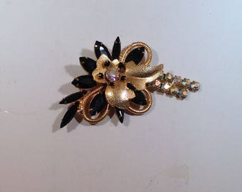 Black and Ab Juliana Brooch