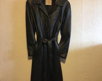 Reptile Dark Brown Leather Matrix Coat iFQOI6Y