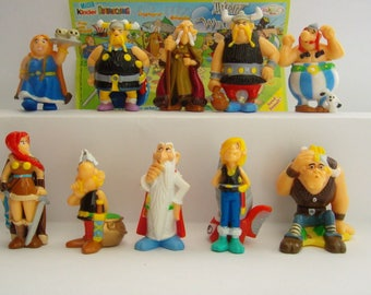 Kinder Surprise Complete Collectible 10 Figures Set ASTERIX and The VIKINGS  Figurines  Miniatures