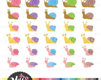 30 Snail Clipart - Instant Download