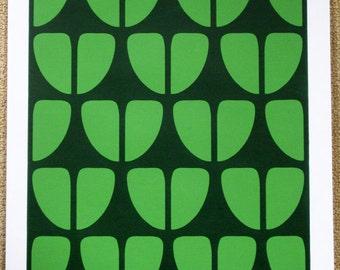 648 : Jugendstil - Leaf Motif - limited edition screenprint