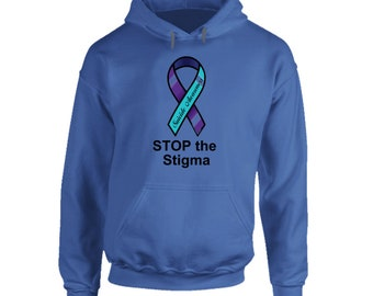 "Royal Blue Hoodie ""stop The Stigma!"""