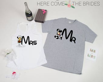 Mr Mrs shirts, Mr Mrs Matching shirts, Mr and Mrs shirts,Mr Mrs Honeymoon shirts,Hubby Wifey Shirts, Couple tshirts,Gift bride and Groom d5