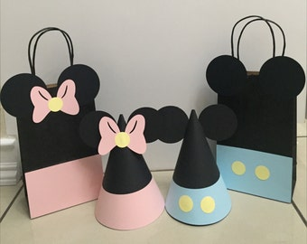 Baby Mickey & Minnie Mouse Party Hats or Gift Bags
