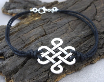 Bracelet Celtic knot silvered love knots