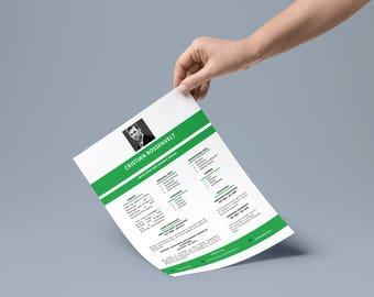 Modern and Elegant CV | CV editable | 3 Pages | A4