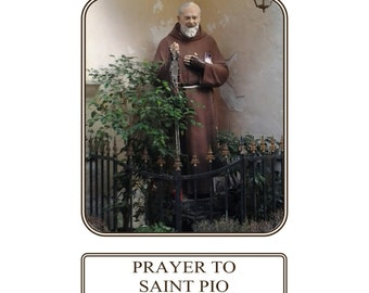Saint Pio, Padre Pio Prayer Card