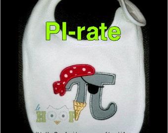 PI-rate Machine Embroidery Applique Design 4x4 5x7 6x10 PI Day March 14 314 Math PIDAY 3.14