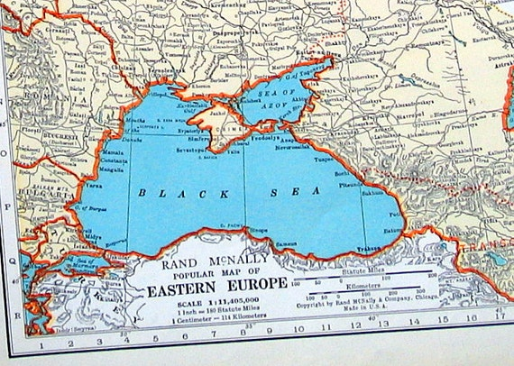 Eastern europe map asia map 1936 vintage map from world eastern europe map asia map 1936 vintage map from world atlas 2 sided gumiabroncs Images