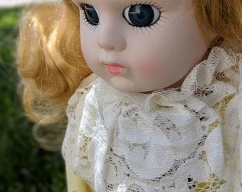 Big Eyes Vintage Porcelain Doll