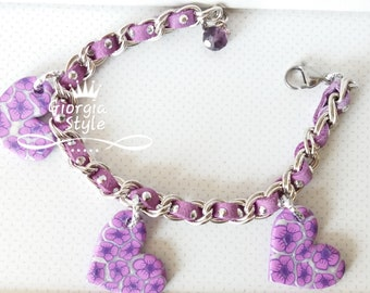 Bracelet with Fimo Heart