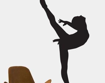 Vinyl Wall Decal Sticker Ballerina Dancer Ballet Girl item 208A