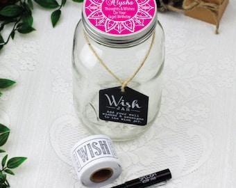 Personalised Birthday Keepsake Wish Jar -  Mandala