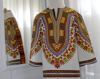 Custom Girls Boho/Ethnic/African Dashiki Print Tunic Dress