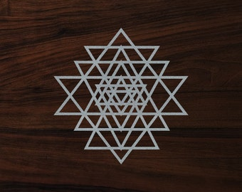"Sacred geometry sticker Yantra die-cut decal  (3""x3"")"
