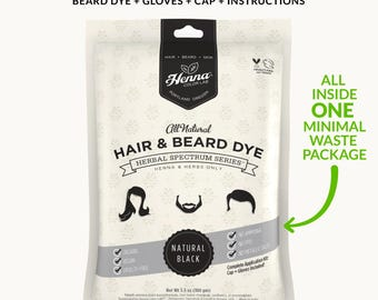 Natural Black Herbal Beard Dye