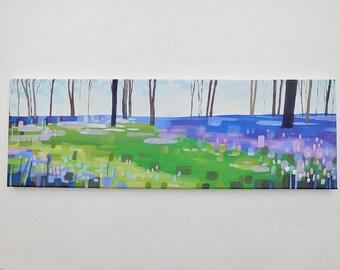 Secret bluebell woods - original landscape painting