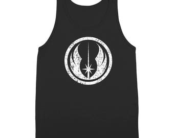 The Jedi Order White Ink Star Wars Fighter Costume Geek 80S Tank Top DT1899
