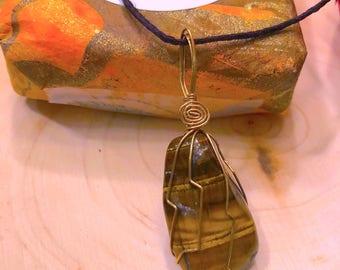 Tiger Eye Spirit Stone Necklace