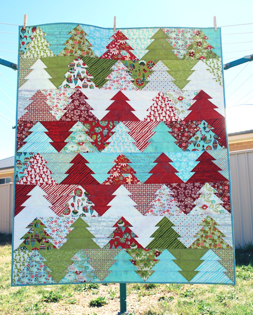 Zigzag Christmas Tree Quilt Pattern PDF Wander : camping quilt - Adamdwight.com