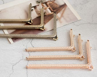 1 PCS, 14.5/16.5/18.5cm L Shaped Right Angle Shape Kiss Lock Purse Frame Kisslock for Purse Wallet DIY