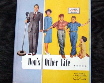 Mid Century Vintage Book, Don's Other Life, Biography of Radio Show Host Don Breneman by Kay McNeill, BW Photographs, Gift for Dad